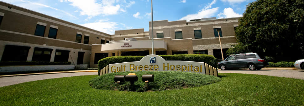 Gulf Breeze Hospital front entrance