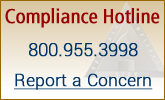 Compliance hotline number. 800.955.3998.