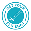 Image of a need saying flu shot.