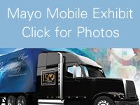 Mayo Exhibit truck graphic linking to Mayo Exhibit truck photos